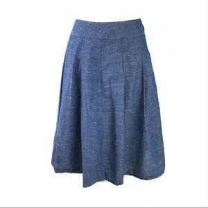 Biden skirt size 10 pleated chambray denim blue